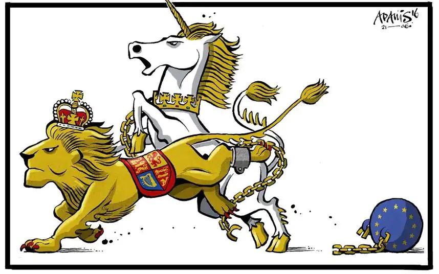 lion and unicorn brexit